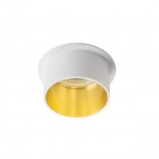 Светильник точечный SPAG S W/G, Gx5.3/GU10, IP20, белый/Золото, Kanlux 27323