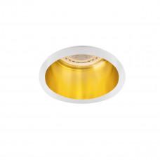 Светильник точечный SPAG D W/G, Gx5.3/GU10, IP20, белый/Золото, Kanlux 27327