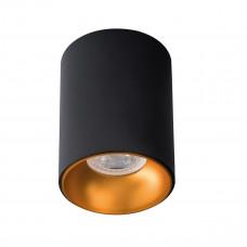 Світильник точковий RITI B/G, GU10, IP20, чорний/золото, Kanlux 27571