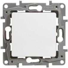Перемикач одноклавішний (прохідний), Білий, Legrand Etika 672205