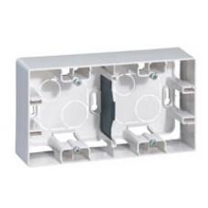 Коробка накладного монтажу, 2 поста, Біла, Legrand Etika 672530