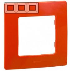 Рамка 3 постова, Червона, Legrand Etika 672533