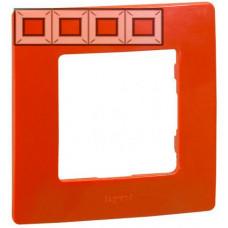 Рамка 4 постова, Червона, Legrand Etika 672534