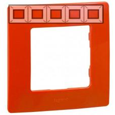 Рамка 5 постова, Червона, Legrand Etika 672535