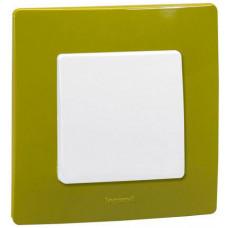 Рамка 1 постова, Зелений папоротник, Legrand Etika 672541