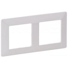 Рамка 2 постова, пластик, Біла, Valena Life Legrand 754002