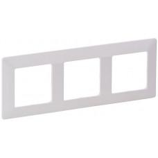 Рамка 3 постова, пластик, Біла, Valena Life Legrand 754003