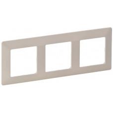 Рамка 3 постова, пластик, Слонова кістка, Valena Life Legrand 754043