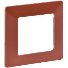 Рамка 1 постова, пластик, Терракота, Valena Life Legrand 754071