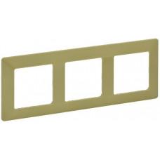 Рамка 3 постова, пластик, Лайм, Valena Life Legrand 754083