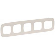 Рамка 5 постова, пластик, Слонова кістка, Valena Allure Legrand 754315