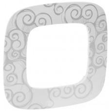 Рамка 1 постова, пластик, Нарцис хром, Valena Allure Legrand 754341