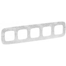 Рамка 5 постова, пластик, Нарцис хром, Valena Allure Legrand 754345