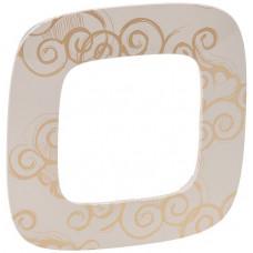 Рамка 1 постова, пластик, Нарцис золото, Valena Allure Legrand 754351