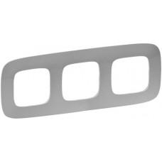 Рамка 3 постова, пластик, Алюміній, Valena Allure Legrand 754393
