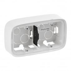 Коробка 2 постова для накладного монтажу, пластик, Біла, Valena Allure Legrand 755552
