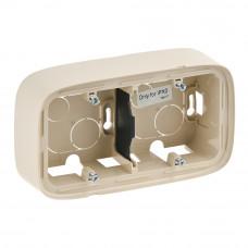 Коробка 2 постова для накладного монтажу, пластик, Слонова кістка, Valena Allure Legrand 755562