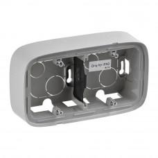 Коробка 2 постова для накладного монтажу, пластик, Алюміній, Valena Allure Legrand 755572