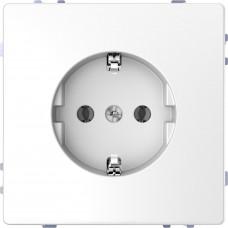 Розетка силовая 2К+З, 16А, 250В, безвинт.зажим, Белый лотос, пластик, D-Life Merten MTN2301-6035