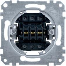 Вимикач трьохклавішний 10А, 250В, механізм, Merten MTN311900