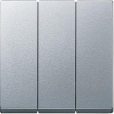 Клавіши для 3-кл. Вимикачів, Алюміній матовий, System-M Merten MTN3420-0460