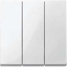Клавіши для 3-кл. вимикачів, Полярно-білий глянець, System-M Merten MTN3420-0319