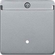 Накладка з карткою-ключем, Алюміній матовий, System-M Merten MTN315460