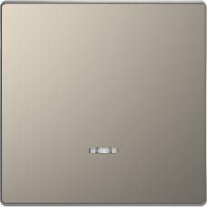 Клавіша до 1-клавішних вимикачів з підсвічуванням, Нікель, метал, D-Life Merten MTN3320-6050