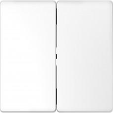 Клавіши до 2-клавішних вимикачів, Білий лотос, пластик, D-Life Merten MTN3400-6035