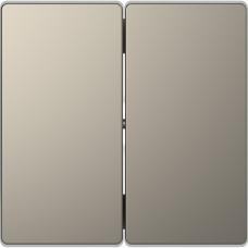 Клавіши до 2-клавішних вимикачів, Нікель, метал, D-Life Merten MTN3400-6050