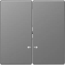Клавіши до 2-клавішних вимикачів з підсвічуванням, Нержавіючая сталь, пластик, D-Life Merten MTN3420-6036