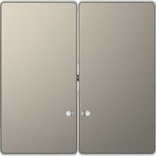 Клавіши до 2-клавішних вимикачів з підсвічуванням, Нікель, метал, D-Life Merten MTN3420-6050