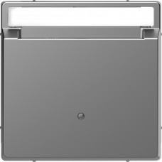Накладка з карткою-ключем, Нержавіючая сталь, пластик, D-Life Merten MTN3854-6036