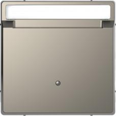 Накладка з карткою-ключем, Нікель, метал, D-Life Merten MTN3854-6050