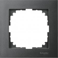 Рамка 1 постова, Антрацит, пластик, M-Pure Merten MTN4010-3614