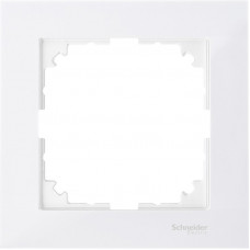 Рамка 1 постова, Полярно-білий, пластик, M-Pure Merten MTN4010-3619