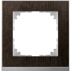Рамка 1 постова, Венге / Алюміній, M-Pure Decor Merten MTN4010-3671