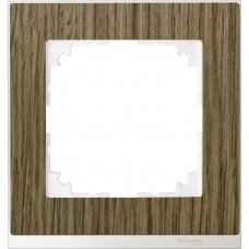 Рамка 1 постова, Дуб / Бріліантовий білий, M-Pure Decor Merten MTN4010-3674