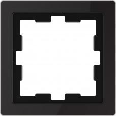Рамка 1 постова, Чорний онікс, скло, D-Life Merten MTN4010-6503