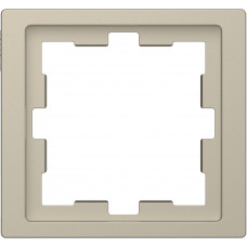 Рамка 1 постовая, Сахара, пластик, D-Life Merten MTN4010-6533