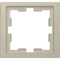 Рамка 1 постова, Сахара, пластик, D-Life Merten MTN4010-6533