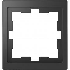 Рамка 1 постовая, Антрацит, пластик, D-Life Merten MTN4010-6534