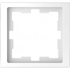 Рамка 1 постовая, Белый лотос, пластик, D-Life Merten MTN4010-6535