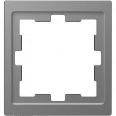 Рамка 1 постова, Нержавіючая сталь, пластик, D-Life Merten MTN4010-6536