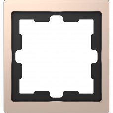 Рамка 1 постовая, Шампань, металл, D-Life Merten MTN4010-6551