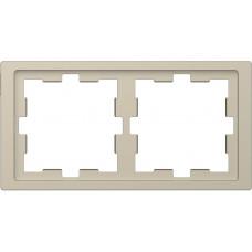 Рамка 2 постовая, Сахара, пластик, D-Life Merten MTN4020-6533
