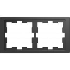 Рамка 2 постовая, Антрацит, пластик, D-Life Merten MTN4020-6534