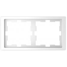 Рамка 2 постовая, Белый лотос, пластик, D-Life Merten MTN4020-6535