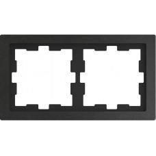 Рамка 2 постова, Базальт, камінь, D-Life Merten MTN4020-6547
