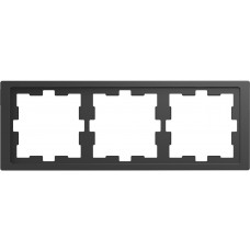 Рамка 3 постова, Антрацит, пластик, D-Life Merten MTN4030-6534
